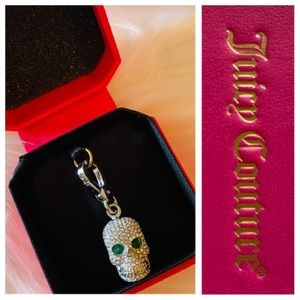 JUICY COUTURE Pave Skull Charm NWT